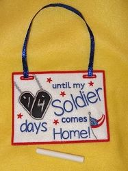 Countdown To Military, In The Hoop - 3 Sizes! | In the Hoop | Machine Embroidery Designs | SWAKembroidery.com Band to Bow