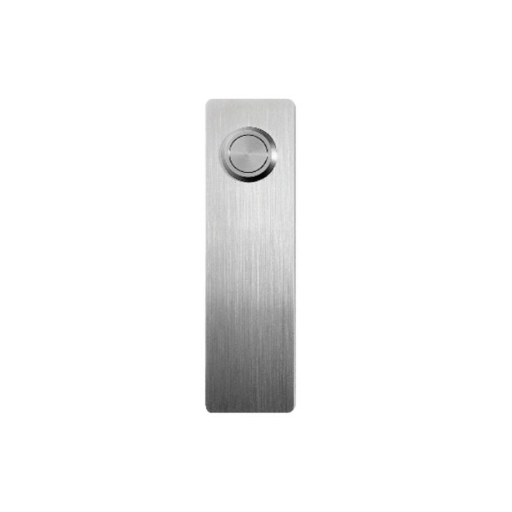 Door Bell  Material Polished and matt stainless steel aisi 316  Dimensions Height: 35 mm Width: 125 mm Depth: 3 mm