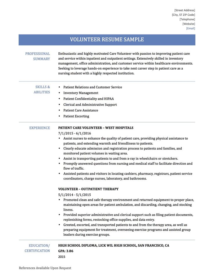 Volunteer Work Resume examples, Resume, Job cover letter