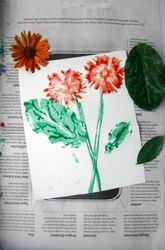 This can be a great art activity that can accompany science lessons on plant life and plant parts. :)