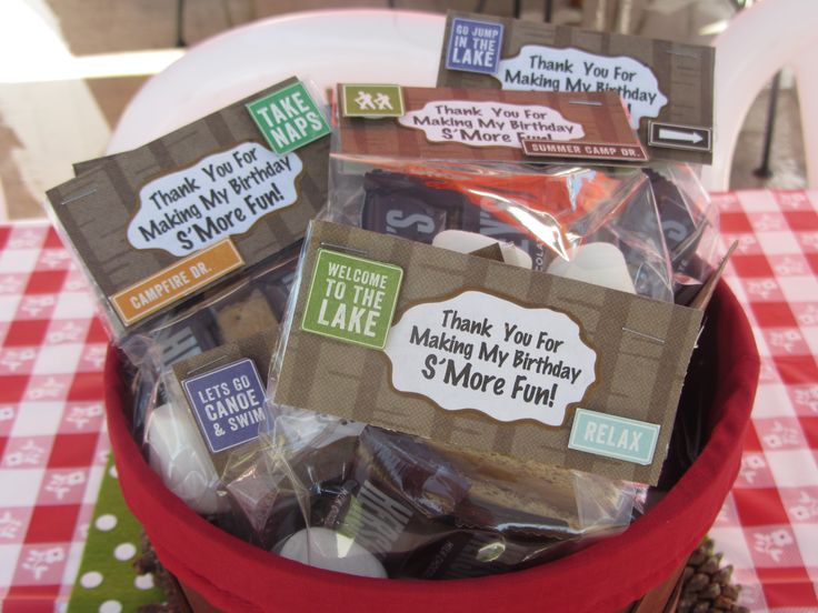 Camping Birthday Goody Bags | Party Ideas | Pinterest ...
