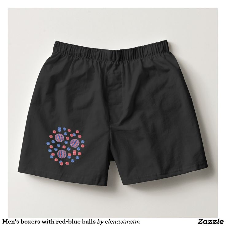 Men's boxers with red-blue balls