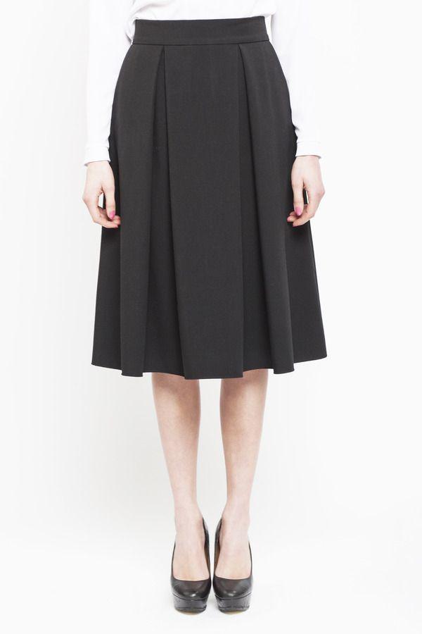 Spódnica damska Elegancka spódnica midi z kontrafałdami, od projektanta fADD   Mustache.pl 169 zł