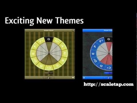 Video showcasing some of the new themes available in Scale Tapper. Also a focus on how versatile the iPad version is. Create a string instrument from 3 to 12 strings. Scales, Chords, Music Theory: Scale Tapper 1.2 for iPad