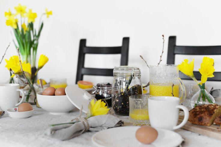 www.hemtrender.se påsk, påskdukning, easter, easter table setting, påsklilja