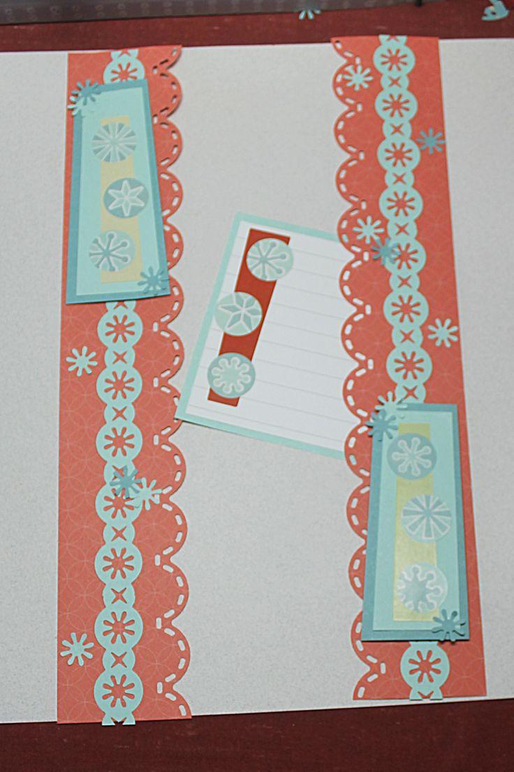 Scrapbook border ideas - Cabana Paper And Winter Stickers