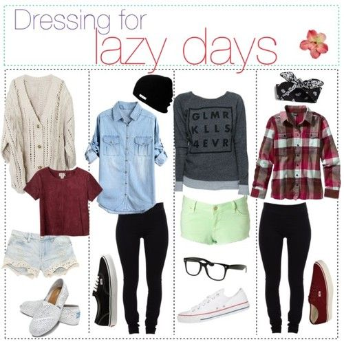 Lazy day outfits, which also is proper for college wear. Love the laid back and casualness in these.