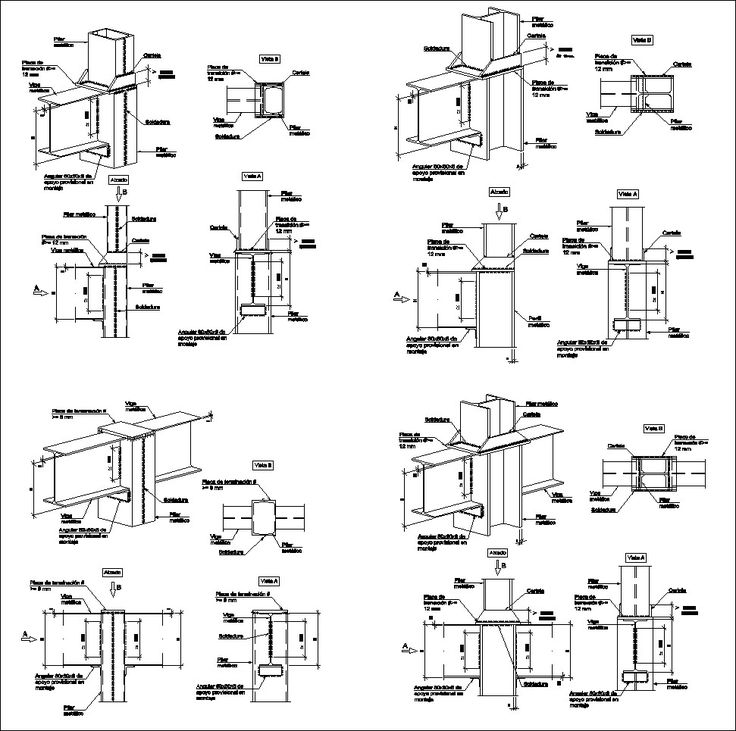 Steel Structure Details V4 – CAD Design | Free CAD Blocks,Drawings,Details