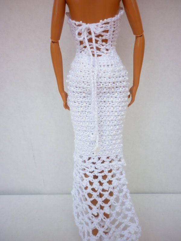 Beaded Elegance - Crochet Barbie Dress