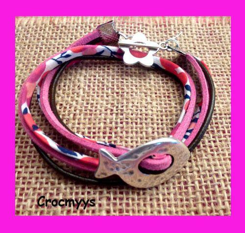 Bracelet liberty wiltshire poisson argenté : Bracelet par crocmyys
