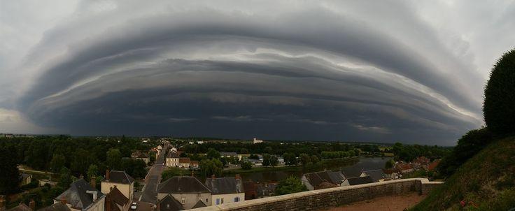 Forts orages grêligènes et venteux sur le Massif-Central et les environs le 8 juillet - KERAUNOS, Observatoire français des tornades et orages violents