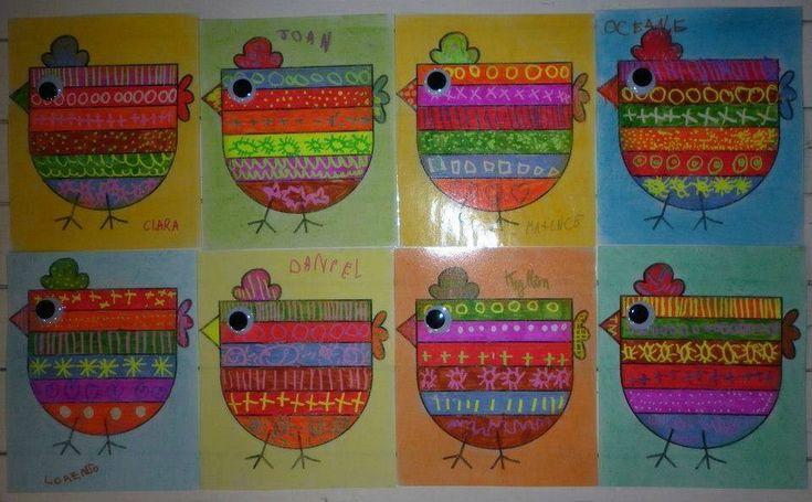Leuke, vrolijke kippen
