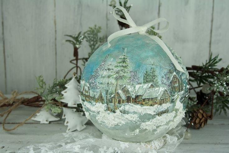 Ball with decoupage