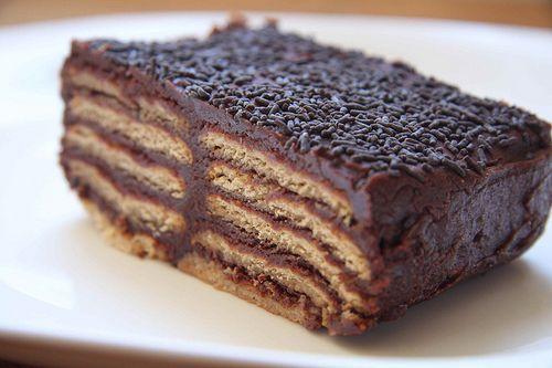 Tarta de galletas y chocolate, la de toda la vida - Taringa!                                                                                                                                                                                 Más