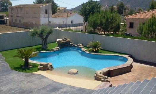 101 bilder von pool im garten - gartengestaltung pool flusssteine, Gartenarbeit ideen