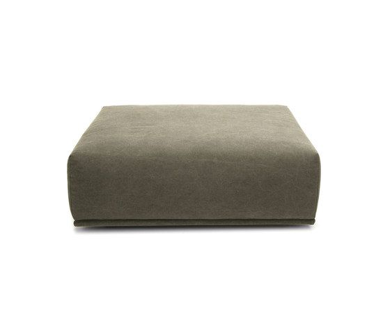 Madonna Sofa Ottoman, Small: Canvas Washed Green 156 by NORR11 | Modular seating elements