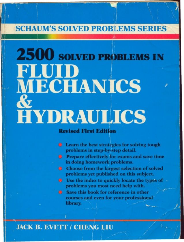 2500 solved problems in fluid mechanics & hydraulics