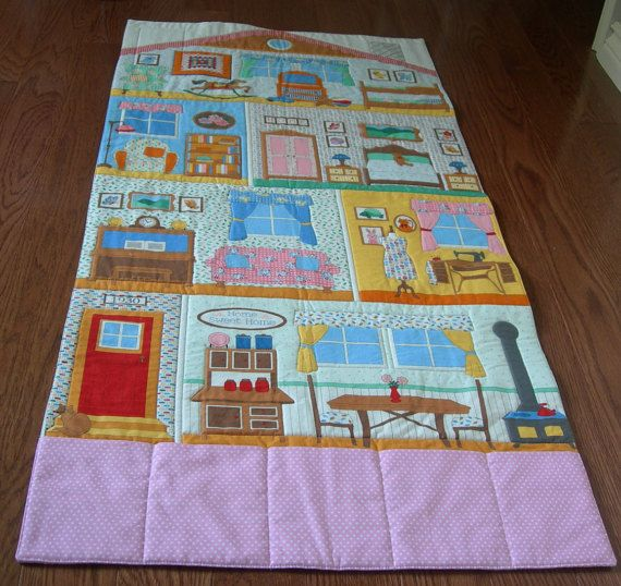 Doll House Home Roll Up/Fold Up Play Mat by CozyPocketDesigns