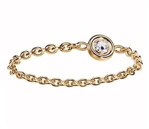 Dior Mimioui diamond ring in yellow gold