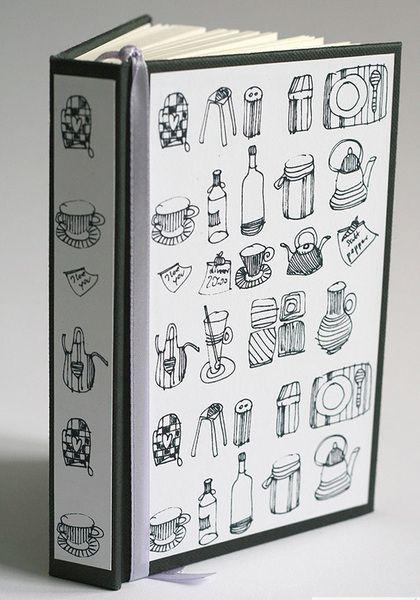 """""""Kuchnia""""-oryginalny notes na przepisy  w Studio Mini Forma na DaWanda.com"""