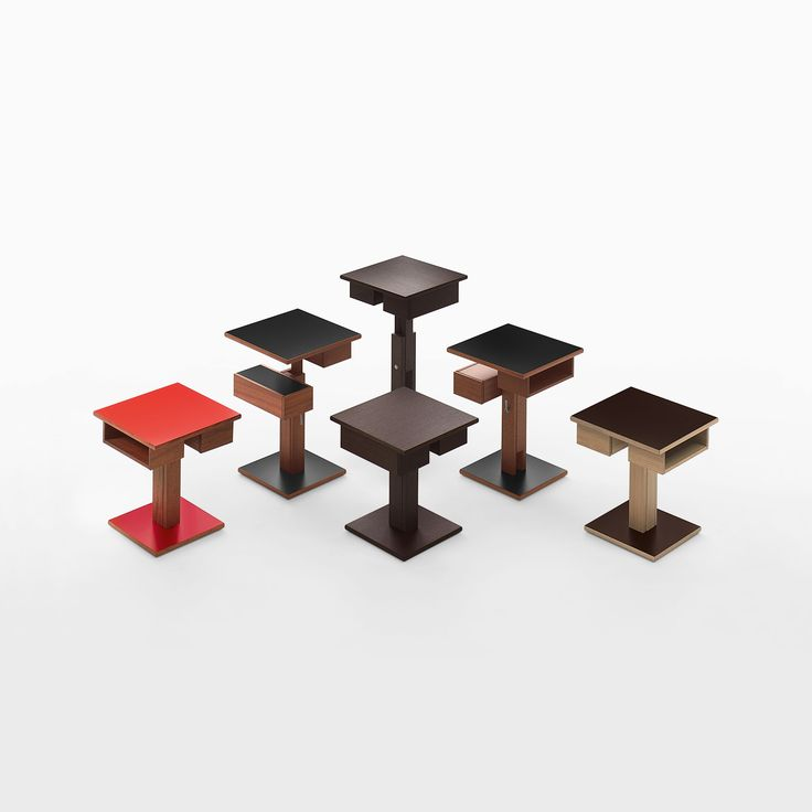#Nuit lifts in different heights, creating a polyhedral composition.  #bedtable #table #littletable #furniture #furnish #arredo #design #designer #designlovers #designlove #products