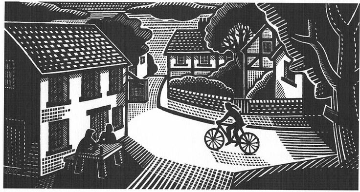 """Pictures from an Old Book: """"Country Diary Drawings"""" By Clifford Harper (published by Agraphia Press, London 2003), Part 2"""