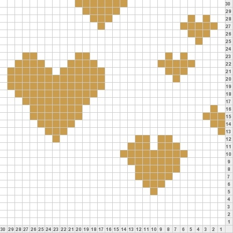 double knit heart