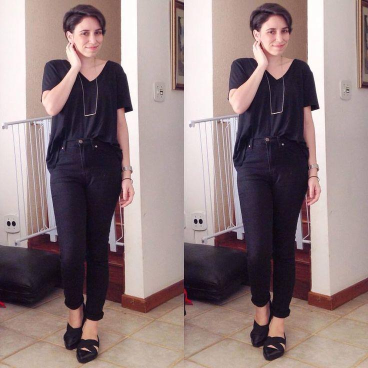 Dayly look, minimal, all black. #capsulewardrobe