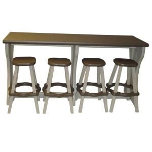 Can't decide if I like this or not.... Leisure Accents 5-Piece Portabello Resin Patio Bar Set