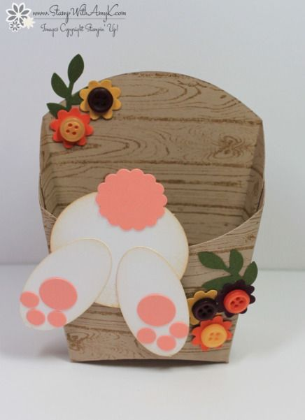 Fry Box Die Rabbit Hole Easter Bunny Treat Holder - Stampin' Up! - Stamp With Amy K