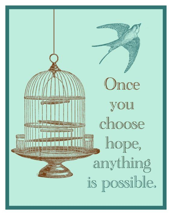 once you choose hope, anything is possible