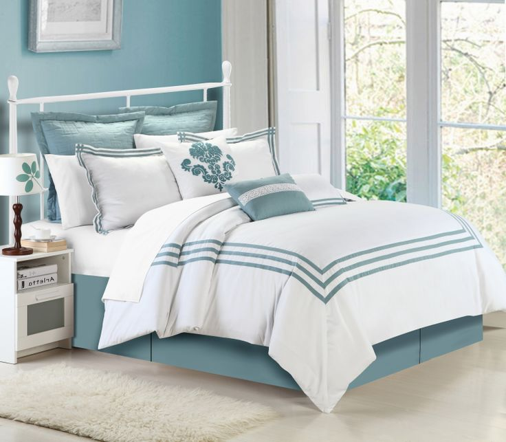 Simplify any room or d cor with this elegant cosmo for Elegant white comforter sets