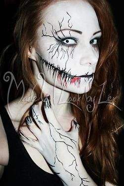 Awesome Halloween makeup! Would love to do something close to this sometime