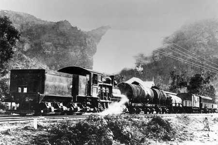 Tank wagons on train at Newnes