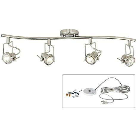 This sleek European style modern track light comes with a DIY kit that converts it into  sc 1 st  Pinterest & 183 best Track and Recessed Lighting images on Pinterest | Track ... azcodes.com