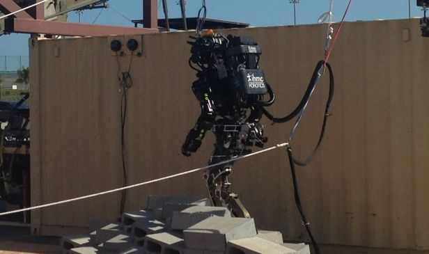 Two Google Robotics Companies, Boston Dynamics and Schaft, Dominate the DARPA Robotics Challenge http://www.technologyreview.com/view/523091/googles-robot-recruits-dominate-darpas-rescue-challenge/