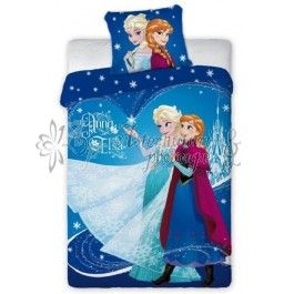 Frozen Regatul de gheata 001 - Lenjerie de pat din bumbac pentru copii 140x200 cm