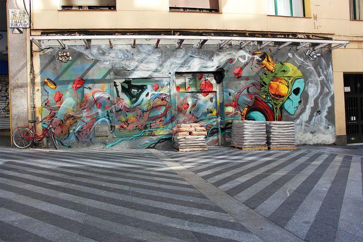 "Laguna x Dih  ""Mind the Wall Project"" #5 Swinton & Grant Gallery C/Tudescos 4 #ArteUrbano #StreetArt #Arterecord 2015  https://twitter.com/arterecord"