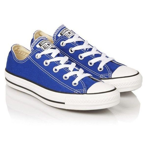 Converse Chuck Taylor canvas sneakers ❤ liked on Polyvore featuring shoes, sneakers, canvas shoes, converse footwear, canvas trainers, plimsoll sneakers and converse shoes