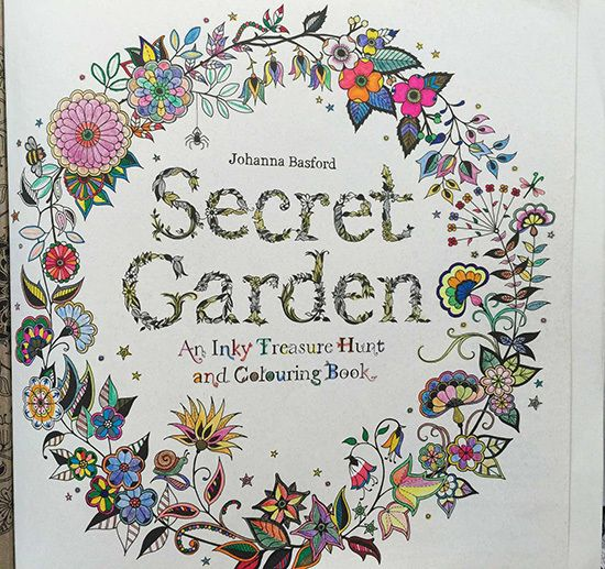 Secret Garden Coloring Book Finished Pages
