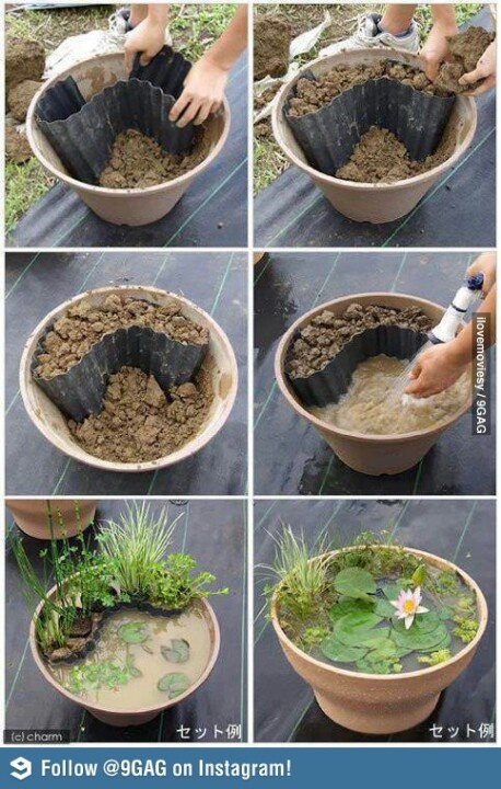 Here is a great idea which you can use to add a water feature to your back yard if you have limited space.