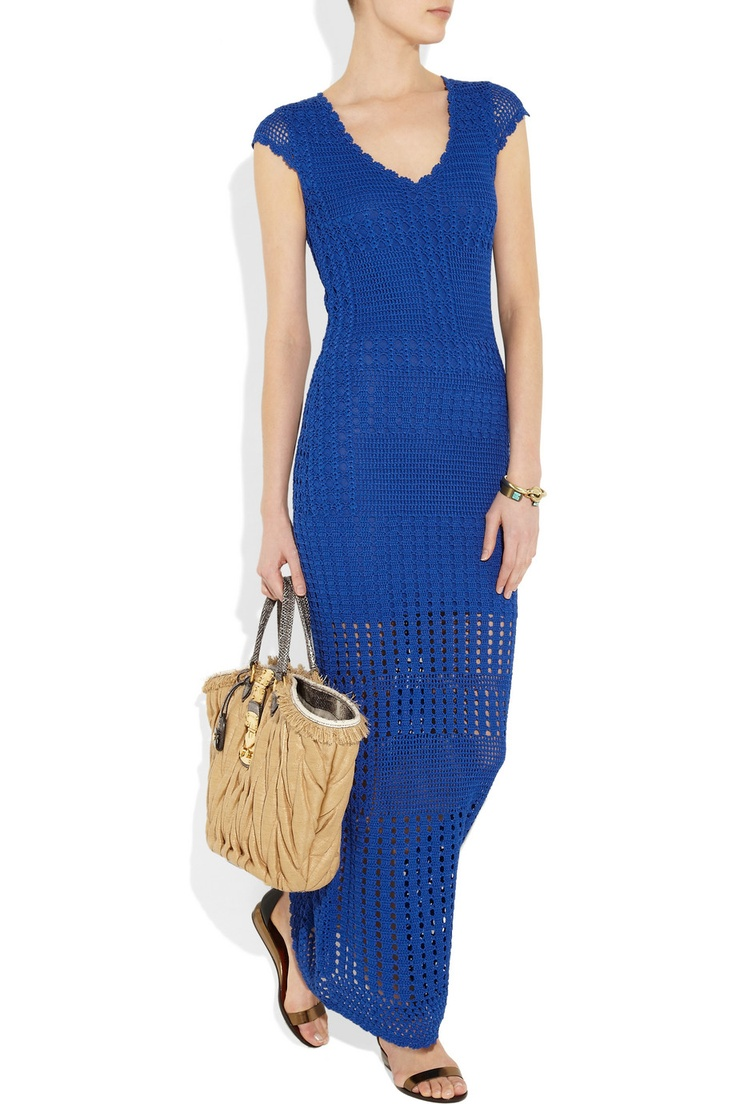 CATHERINE MALANDRINO  Crocheted maxi dress