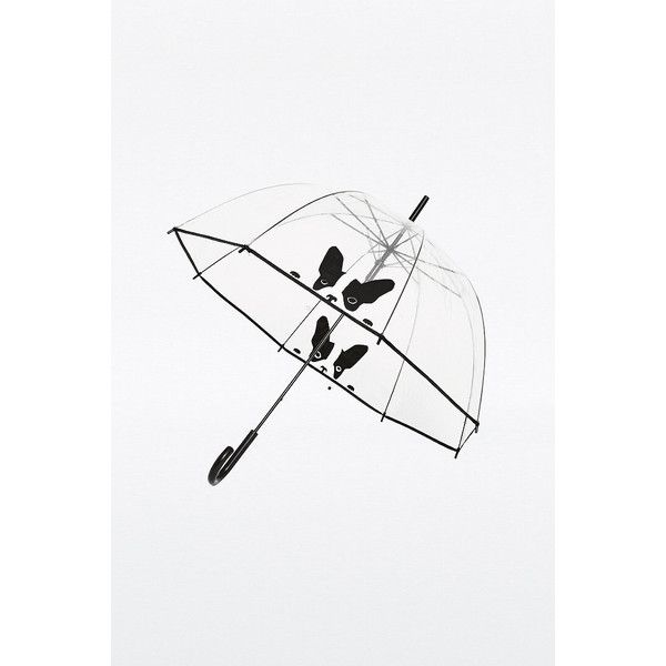 Clear Cat Dome Umbrella (£20) ❤ liked on Polyvore featuring accessories, umbrellas, clear, dome umbrella, clear bubble umbrella, bubble dome umbrella, clear dome umbrella and dome shaped umbrella