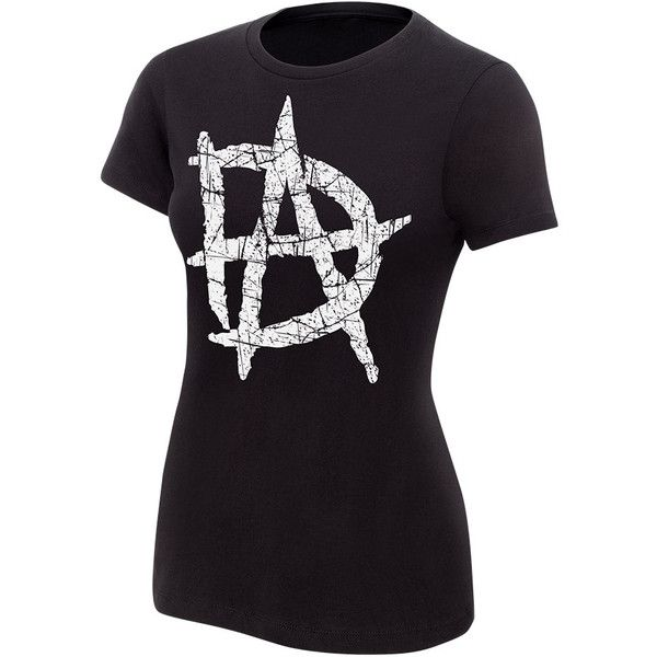 Dean Ambrose Logo Women's Authentic T-Shirt ❤ liked on Polyvore featuring tops, t-shirts, dean ambrose, wwe, cotton shirts, cotton t shirts, cotton tees, logo t shirts and t shirt
