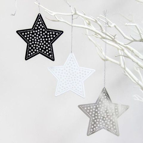Laser Cut Metal Star Hanging Ornaments