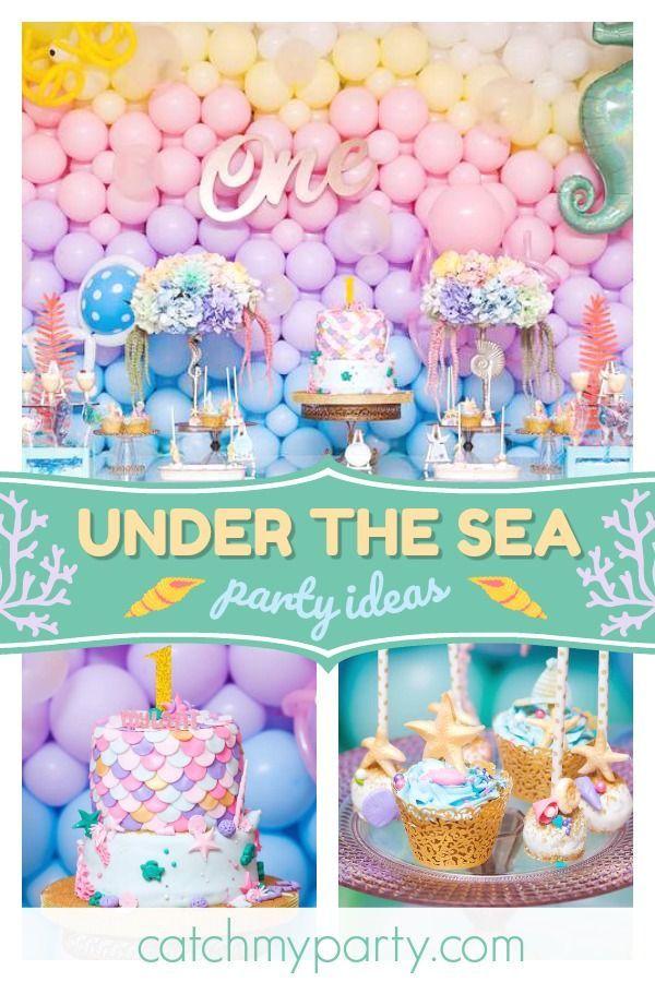 Under The Sea Birthday Mylani S Under The Sea First Birthday