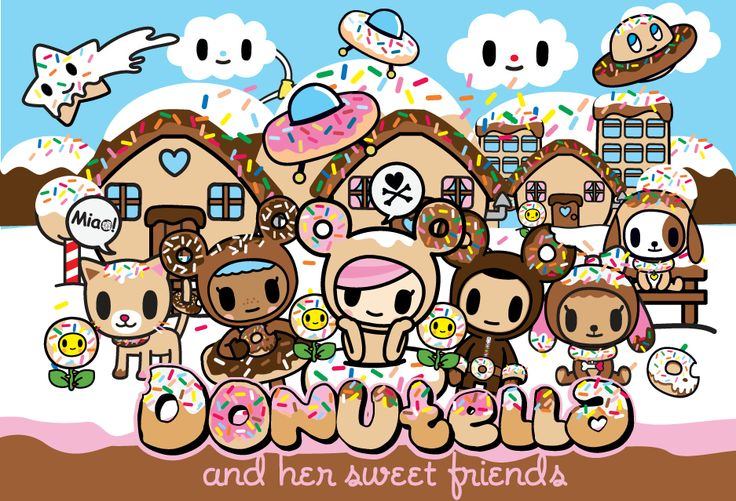 #tokidoki #donutella If you look on the website for tokidoki it will tell you all of the people in it.