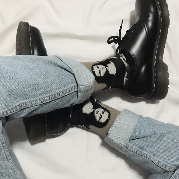 Docs and Socks: the 1461 shoe in black. Shared by _quietbreathing.