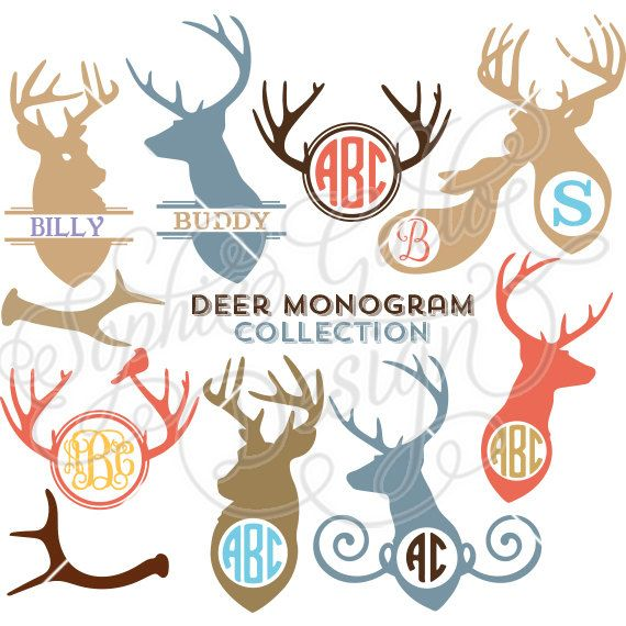 Deer Monogram Collection SVG file for Cricut by SophiesPaperHouse