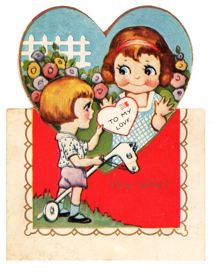 Two Crazy Crafters: Vintage Children Valentine 1928